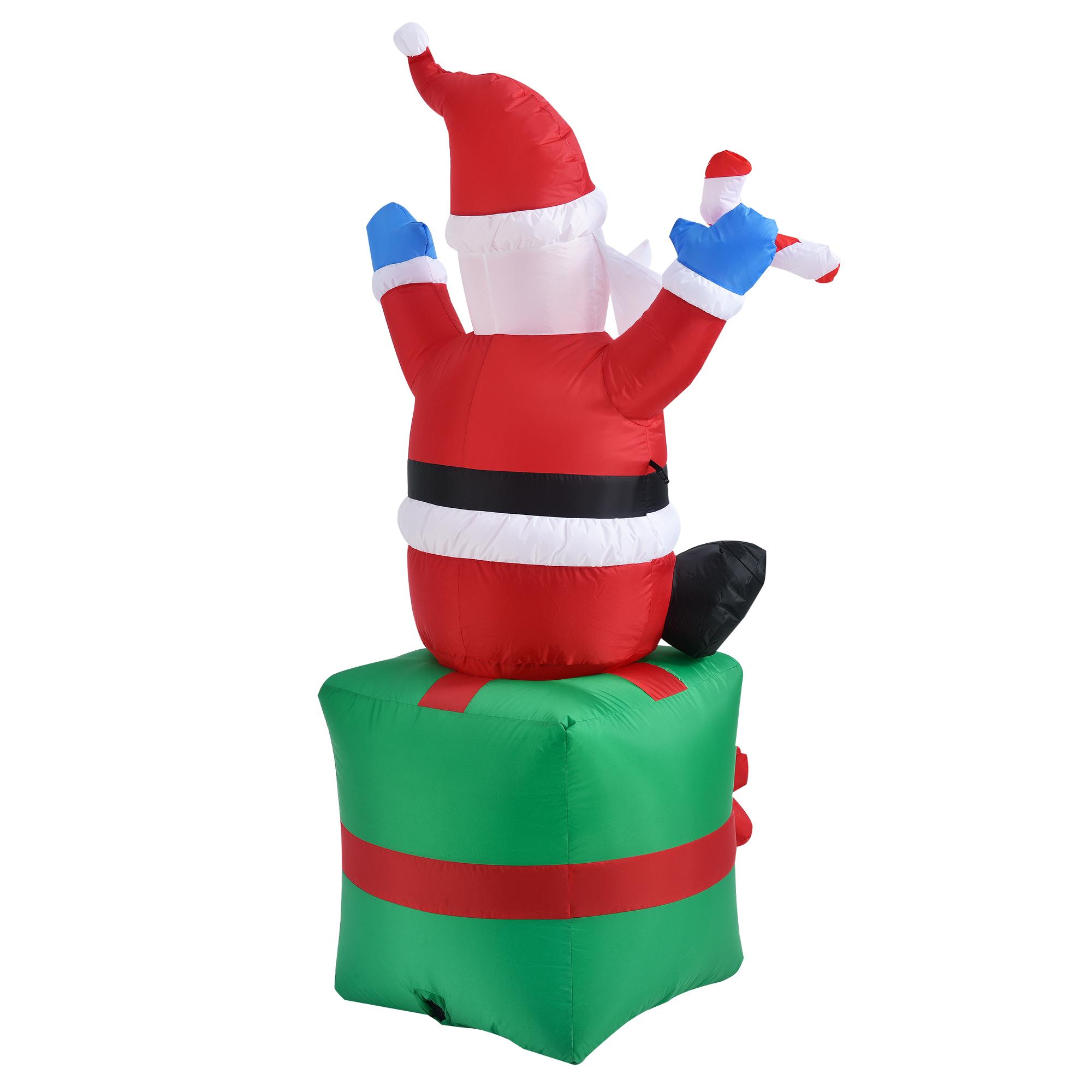 weihnachtsmann 180cm led beleuchtet weihnachten nikolaus. Black Bedroom Furniture Sets. Home Design Ideas
