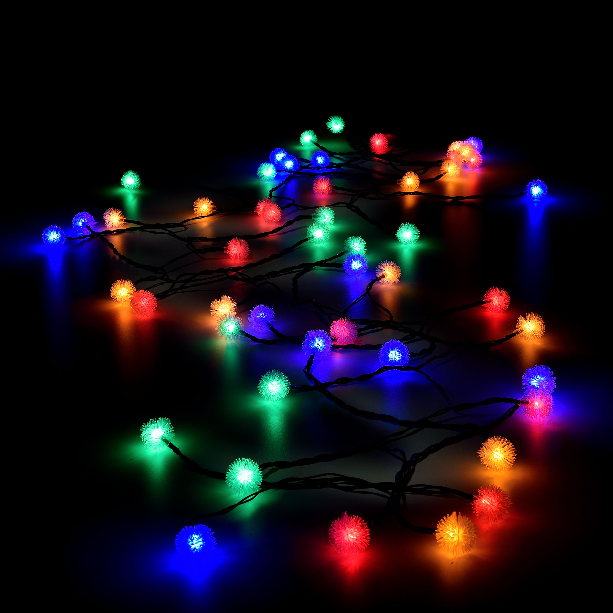 led kugel lichterkette netzteil innen au en weihnachten bunt kerze ebay. Black Bedroom Furniture Sets. Home Design Ideas