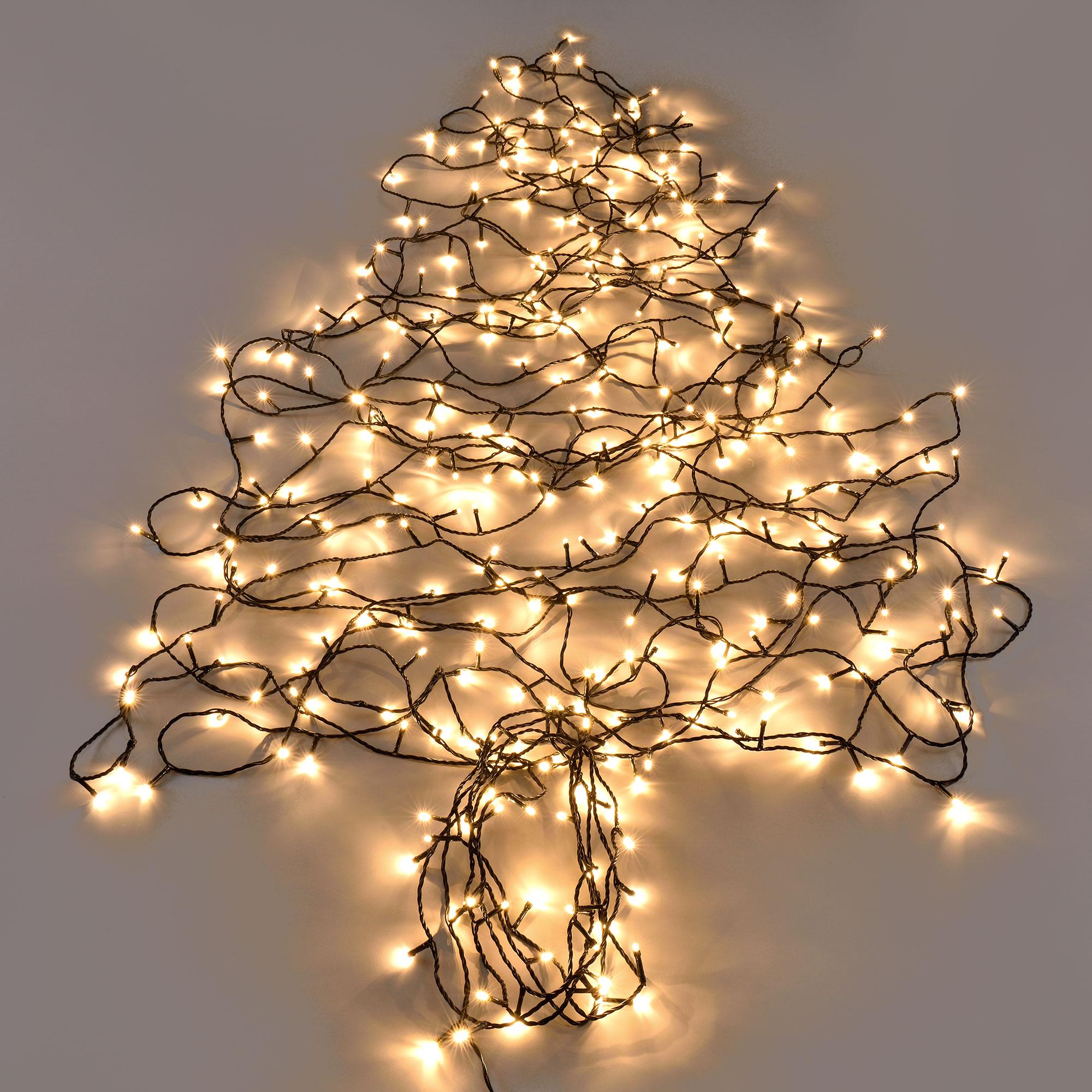 360 led 32m lichterkette netzteil innen au en weihnachten warmwei ebay. Black Bedroom Furniture Sets. Home Design Ideas