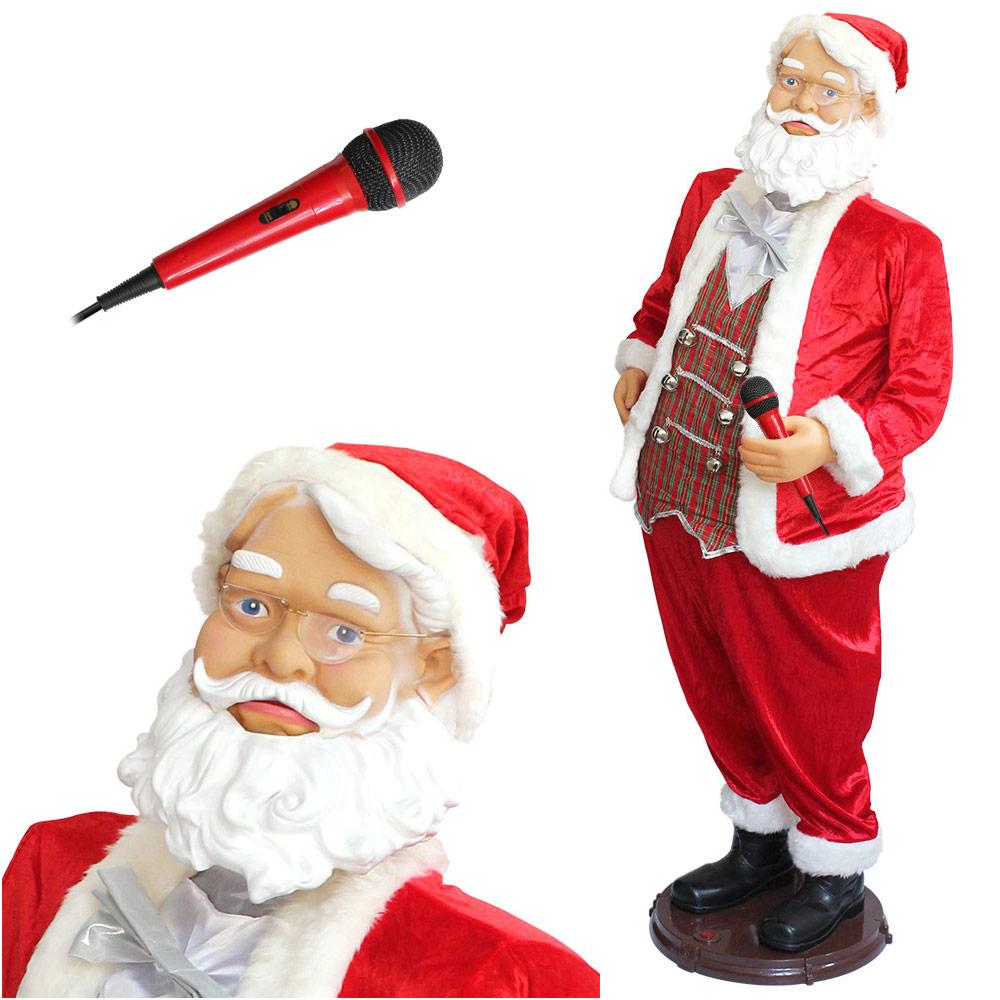 Weihnachtsmann 2,0m Groß Singend Tanzend Musik Lebensgroß 200cm 2 Meter XXL