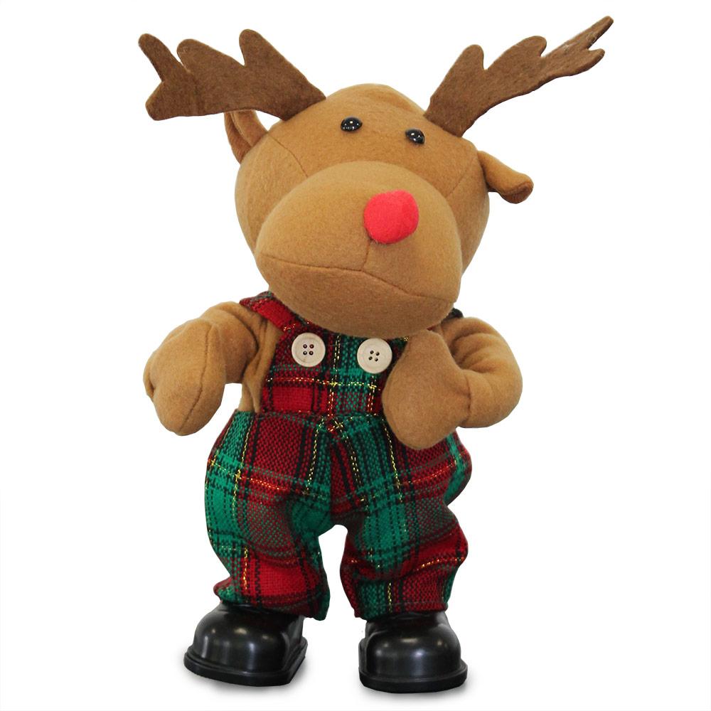 singender weihnachtsmann tanzend weihnachts deko weihnachten figur rentier baum ebay