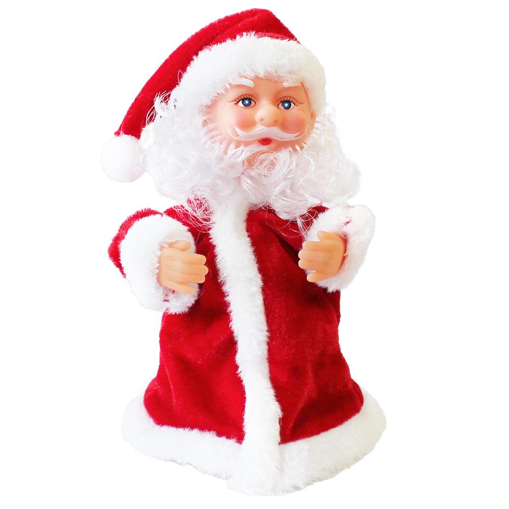 Chantant p re no l danse 18cm no l d coration de no l figurine nicolas ebay - Petit pere noel figurine ...