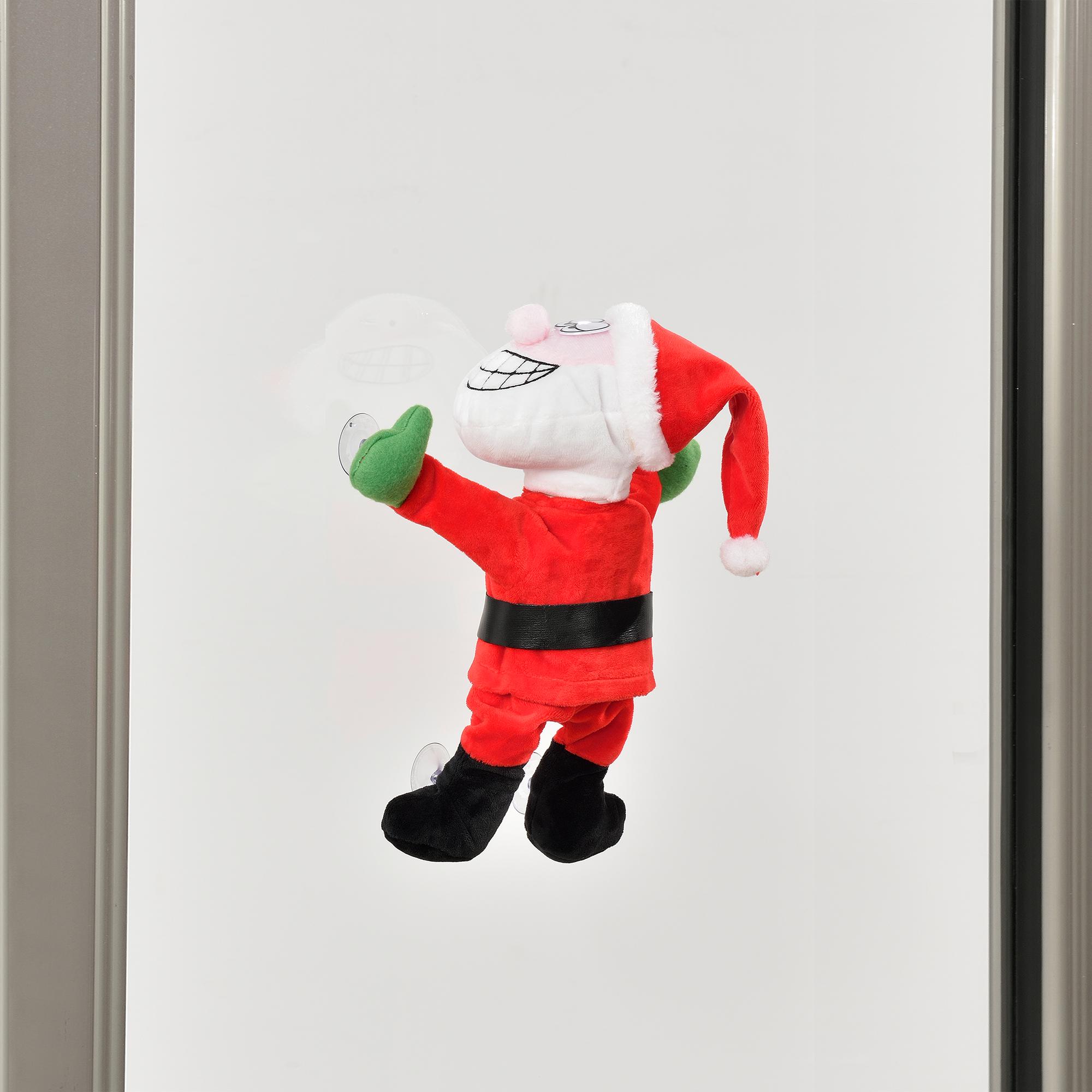 Papa-Noel-que-baila-para-ventana-30cm-decoracion-navidena-Santa-Claus-Navidad miniatura 4