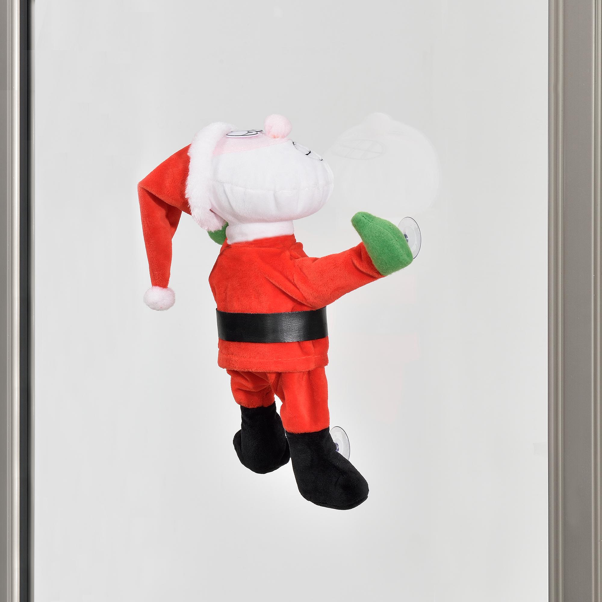 Papa-Noel-que-baila-para-ventana-30cm-decoracion-navidena-Santa-Claus-Navidad miniatura 5