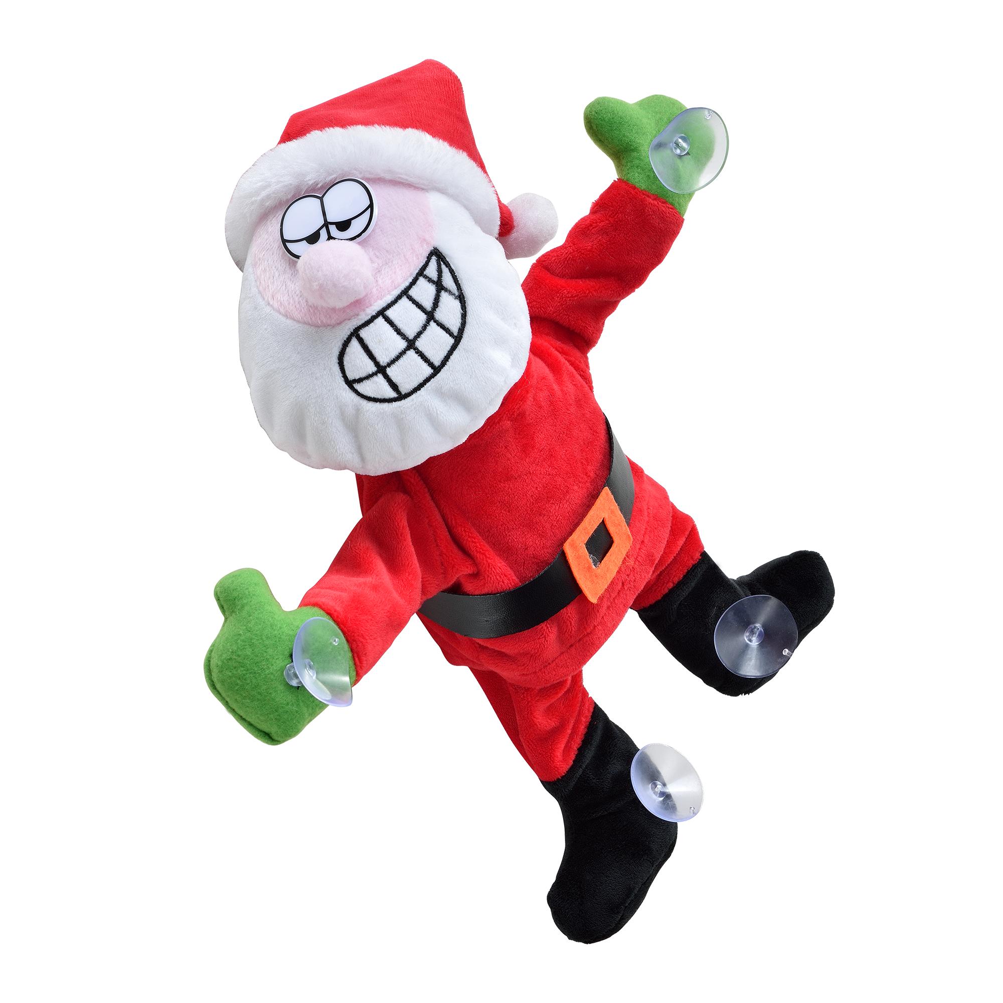 Papa-Noel-que-baila-para-ventana-30cm-decoracion-navidena-Santa-Claus-Navidad miniatura 2