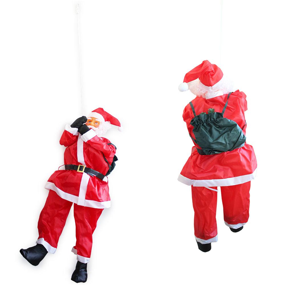 weihnachtsm nner auf leiter 65cm weihnachts mann deko. Black Bedroom Furniture Sets. Home Design Ideas