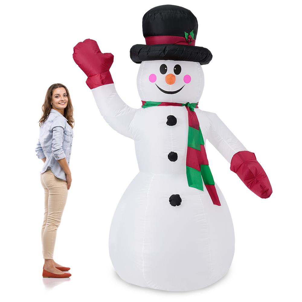 riesiger schneemann 240cm led beleuchtet weihnachten deko lebensgro aufblasbar ebay. Black Bedroom Furniture Sets. Home Design Ideas