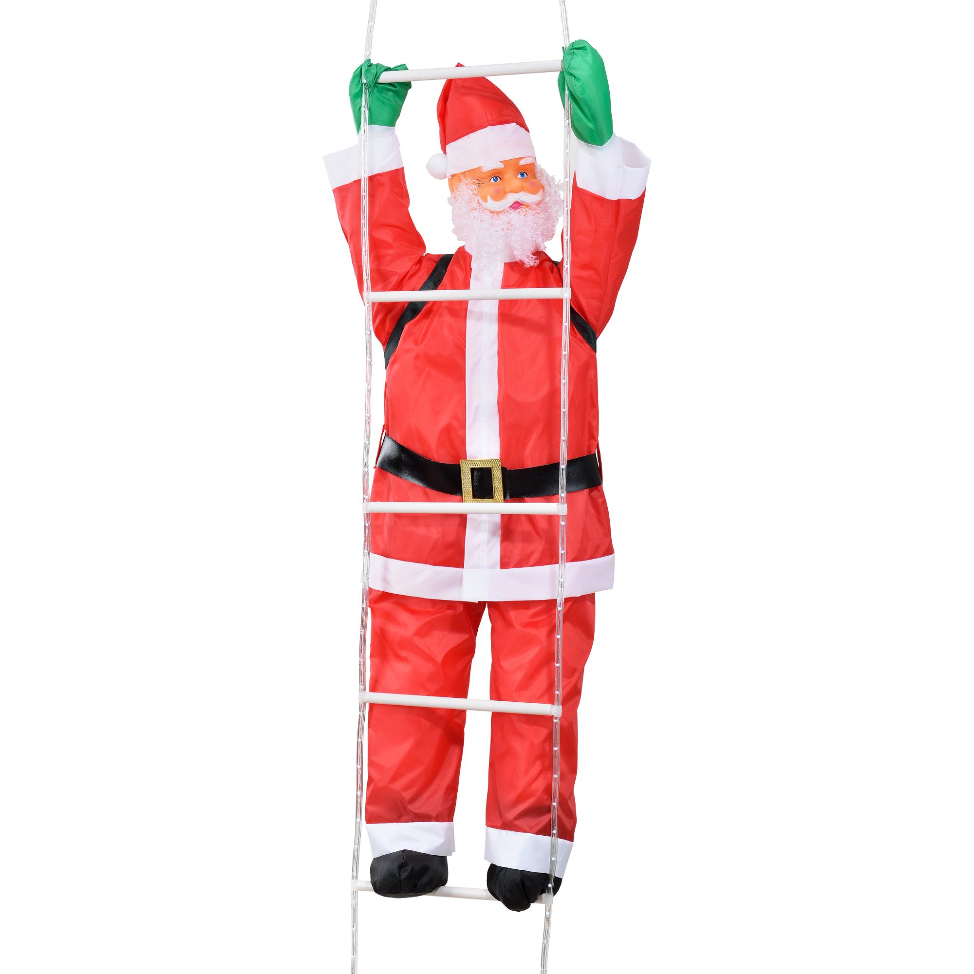 Weihnachtsmann auf Leiter 250cm LED Beleuchtet Lichter DEKO ...