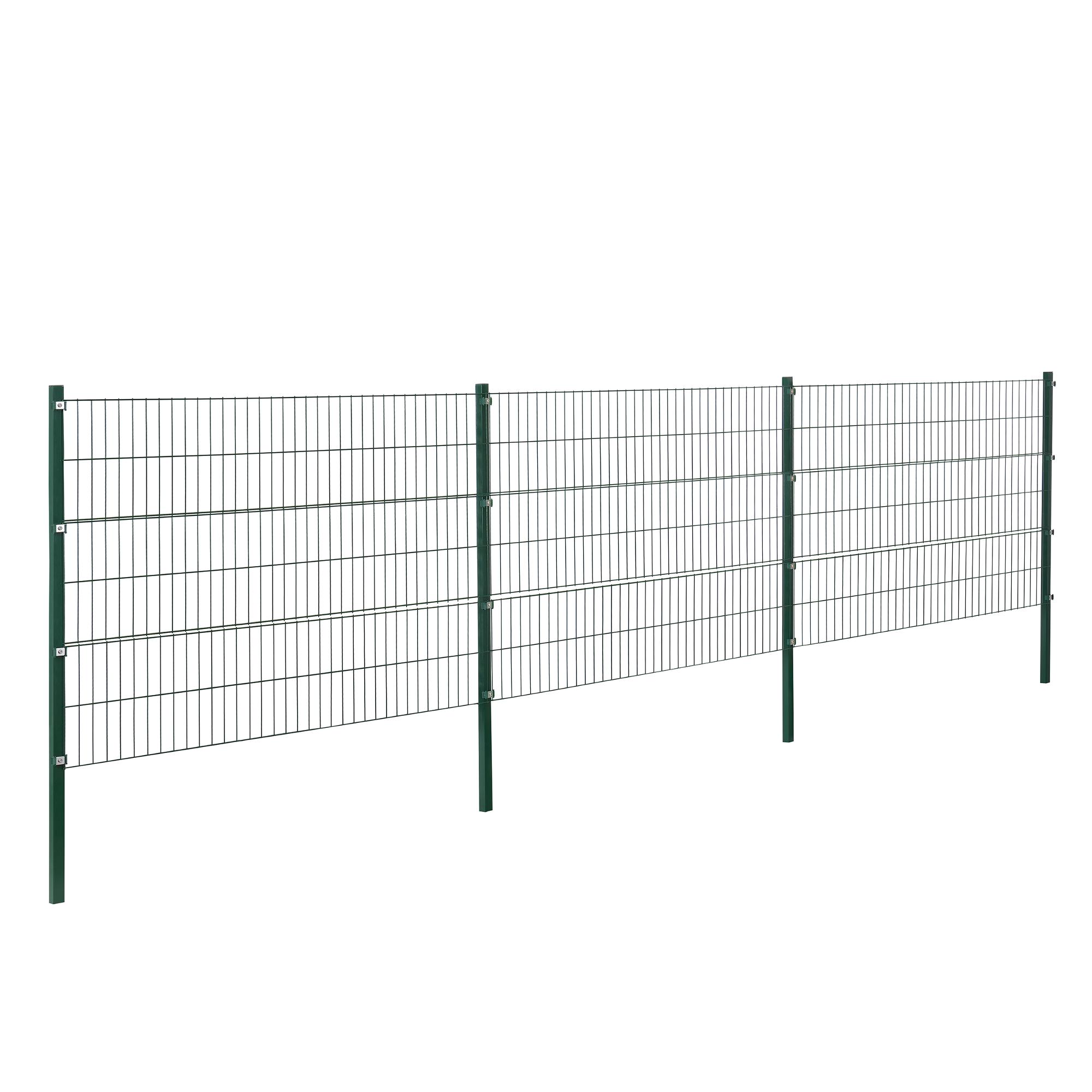 Grillage Jardin Hauteur 2M détails sur [pro.tec]® clôture de jardin 6x1,2m vert clôture kit tapis de  grille métallique