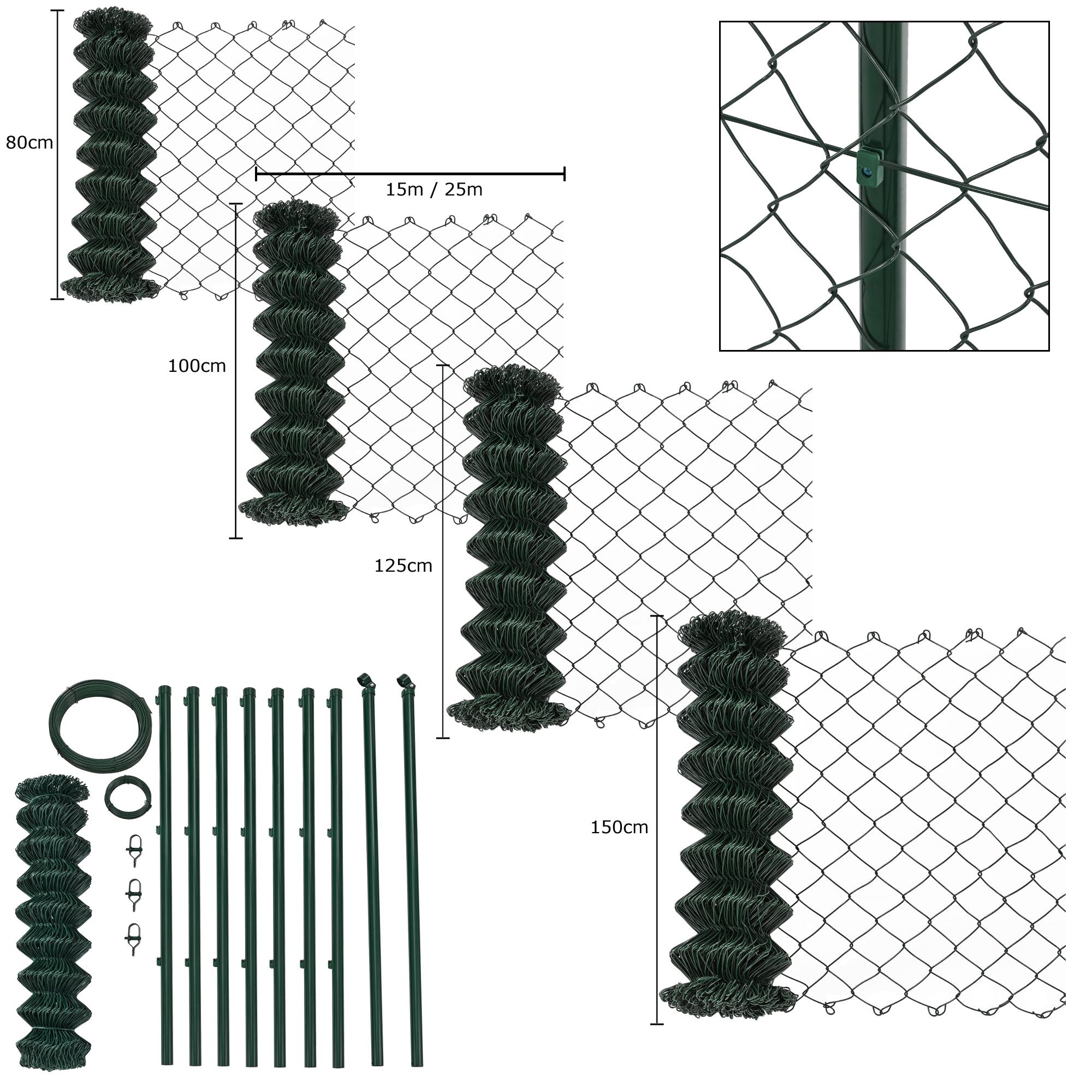 maschendrahtzaun set maschendraht gartenzaun zaun zaunset drahtzaun ebay. Black Bedroom Furniture Sets. Home Design Ideas