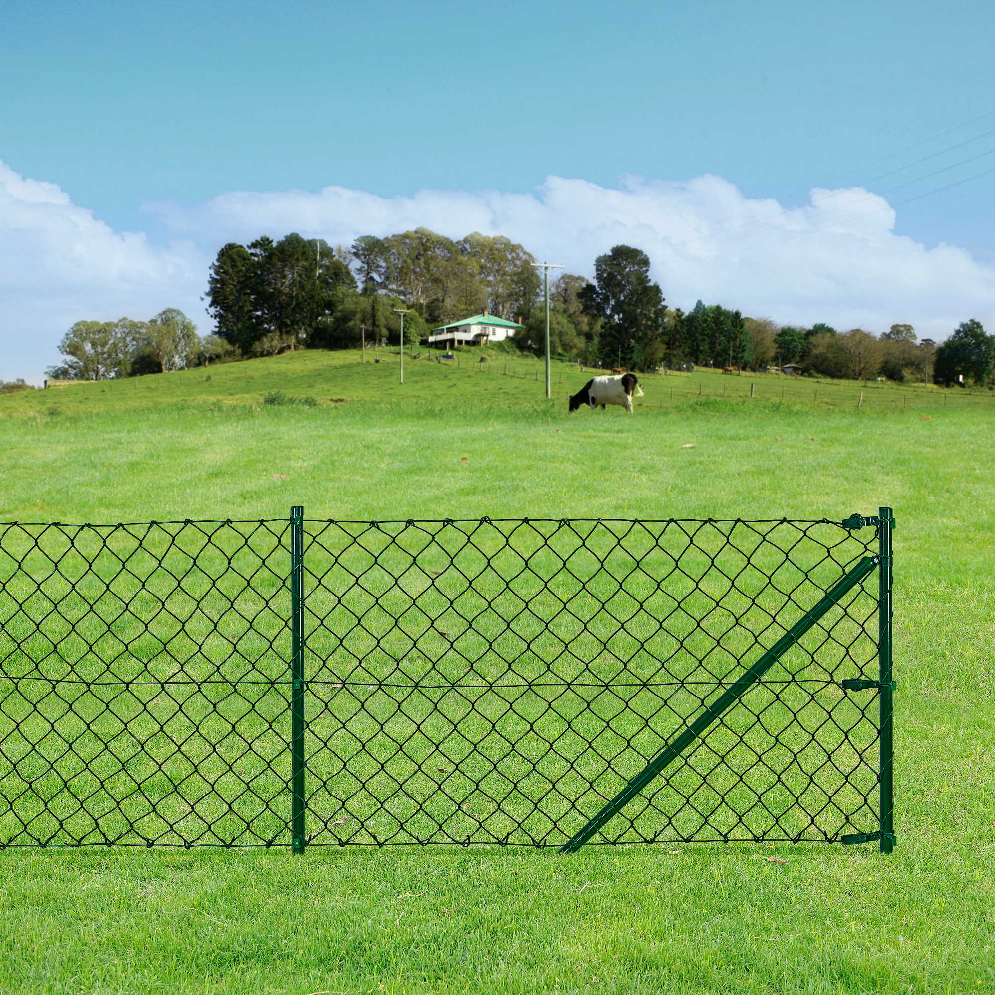 wire mesh fence 150cm x 25m wire fence wire mesh fence wild ebay. Black Bedroom Furniture Sets. Home Design Ideas