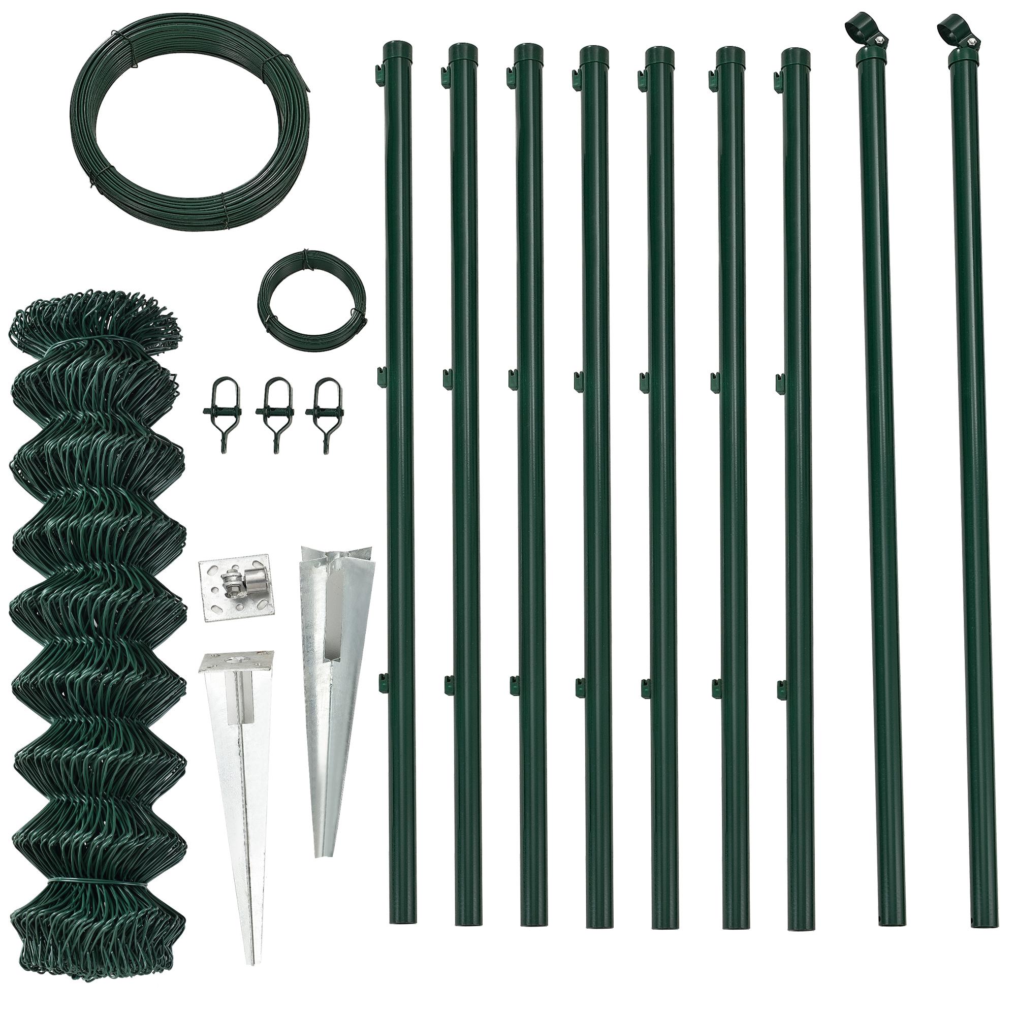 Détails sur [pro.tec]® Clôture treillis métallique complète 1x15m clôture  de jardin