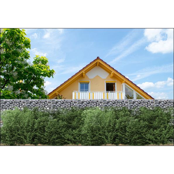 gabionen 2m hoch gabionen mauer limes 100 cm x 12 cm x 60. Black Bedroom Furniture Sets. Home Design Ideas