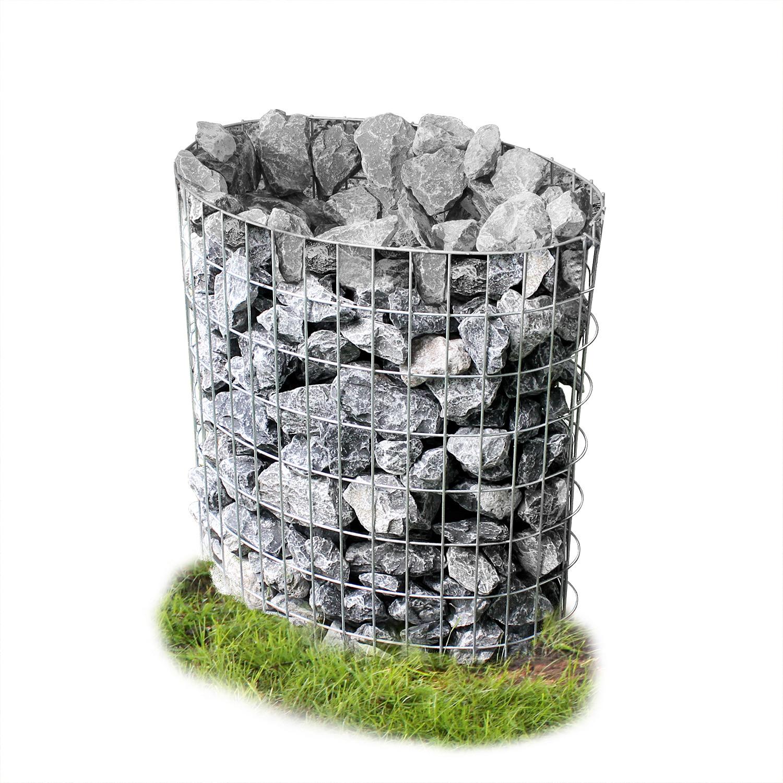 [pro.tec]® Gabion - kamenné koš ve tvaru vajíčka,šedá / stříbrná,