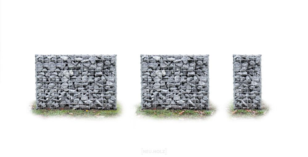 [pro.tec]® Gabion - držákový koš na štěrk nebo kameny,šedá / stříbrná,
