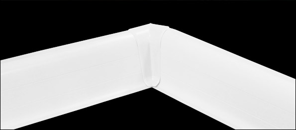 neuholz innenecke f r sockelleisten wei 60mm fu leisten laminat pvc ebay. Black Bedroom Furniture Sets. Home Design Ideas