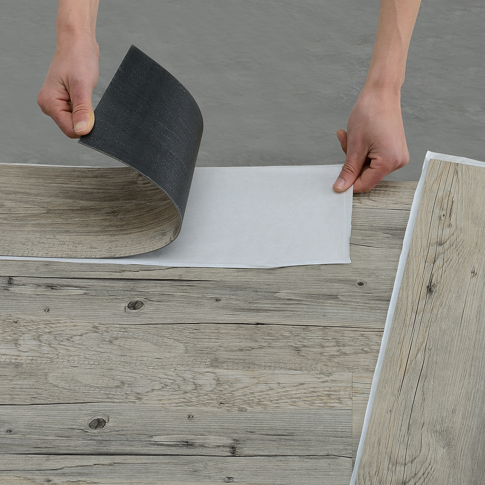 neuholz about 4m vinyl laminate self adhesive oak gray flooring planks ebay. Black Bedroom Furniture Sets. Home Design Ideas