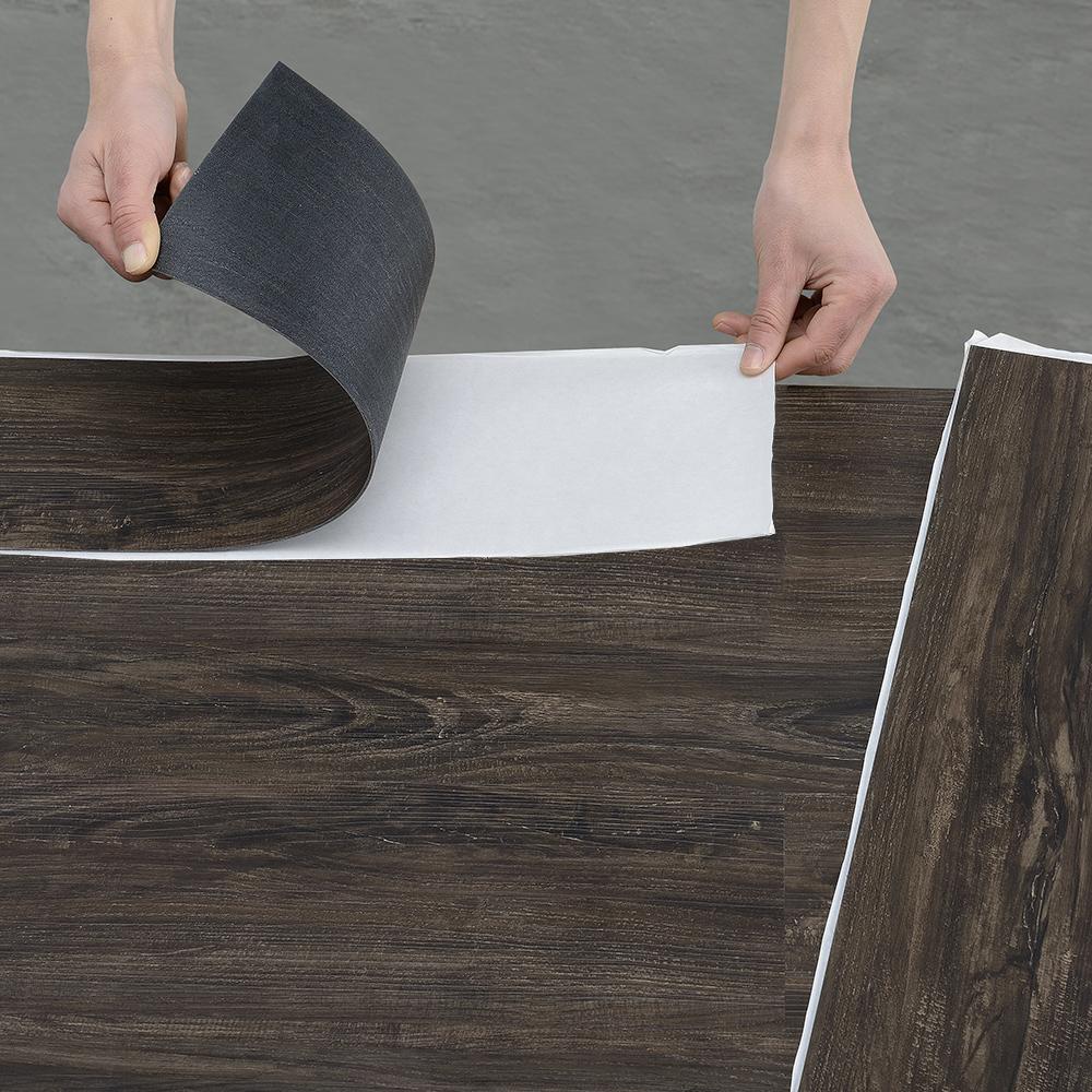 Sehr Gut NEU.HOLZ® ca. 1m² Vinyl Laminat Selbstklebend Struktur Matt Dielen  BR75